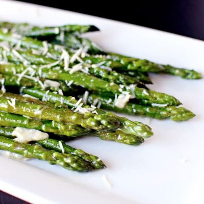 10 Minute Asparagus! Delicious cheesy asparagus in under 10 minutes ...