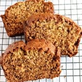 Classic Banana Bread! The real deal banana bread. Great just by itself or as a base for your next creative recipe! | HomemadeHooplah.com