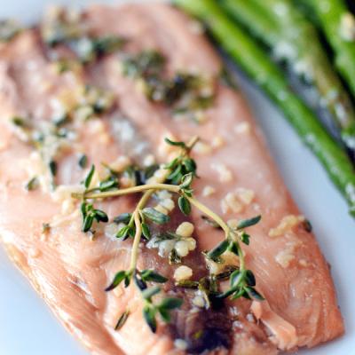 Honey Baked Salmon! Sweet, flaky salmon baked in foil. | HomemadeHooplah.com