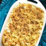 Creamy Alfredo Pasta Bake! Creamy alfredo sauce with chicken and penne pasta. | HomemadeHooplah.com
