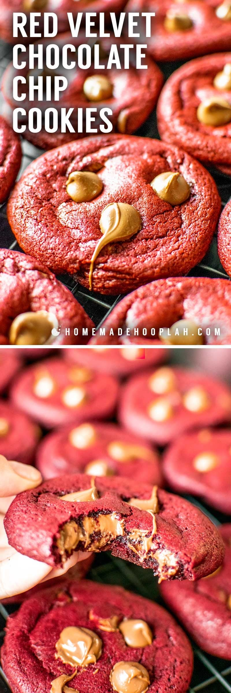 How to make red velvet cookies.