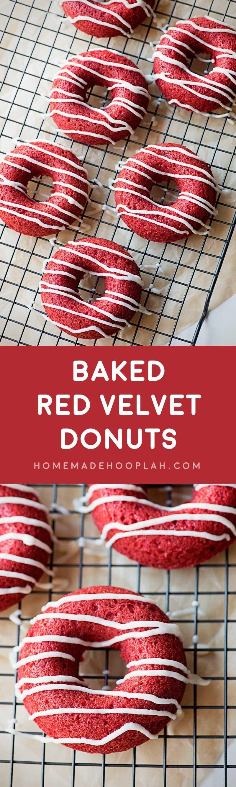 Baked Red Velvet Donuts Homemade Hooplah