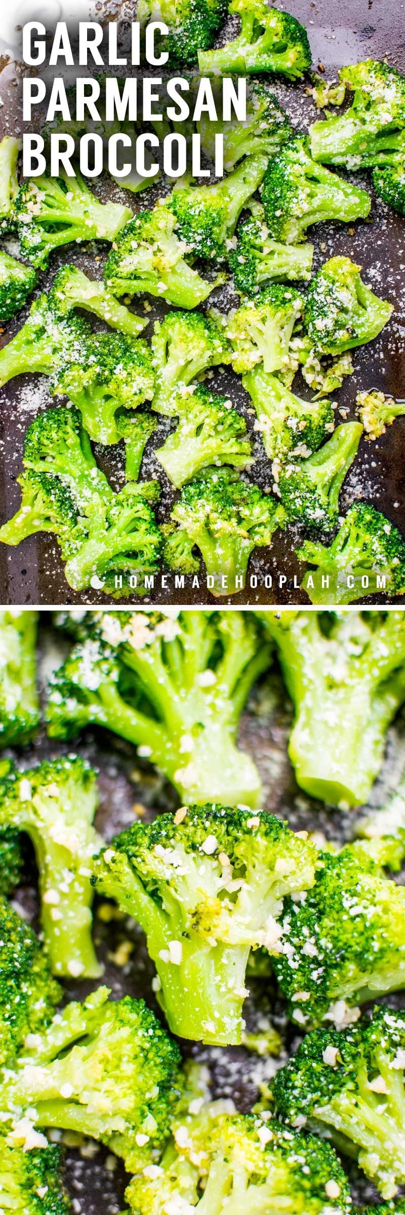 Baked parmesan garlic broccoli.