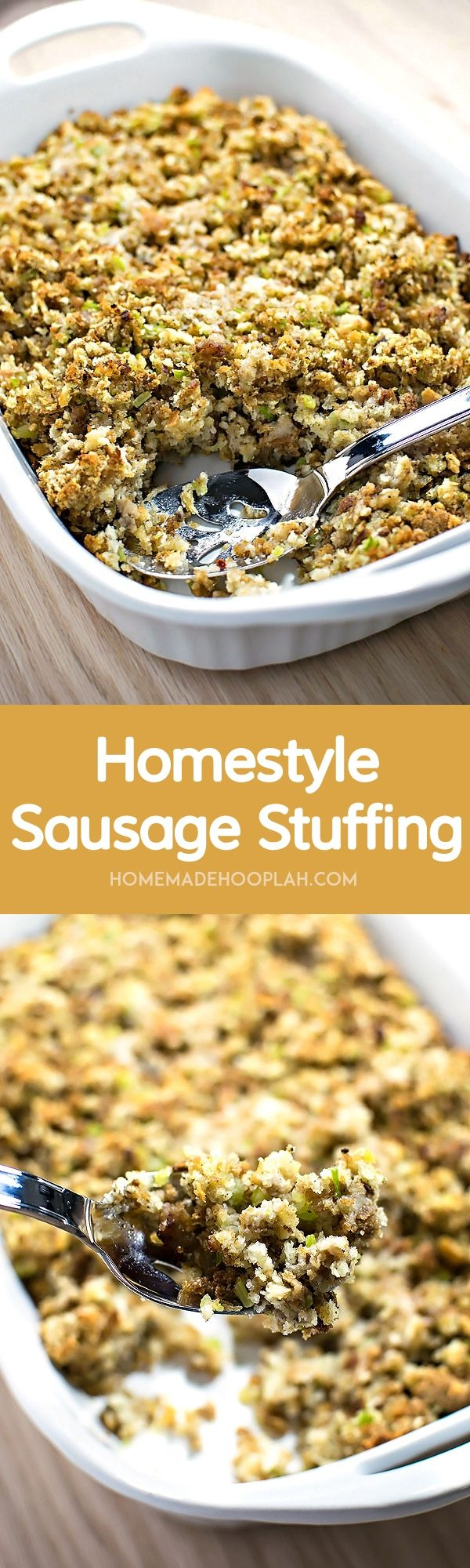 Homestyle Sausage Stuffing Homemade Hooplah