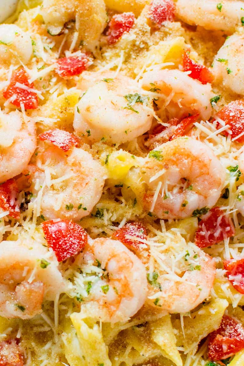 An easy baked parmesan shrimp recipe.