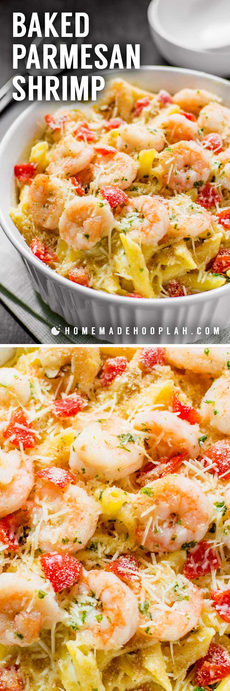 How to make a shrimp pasta bake.