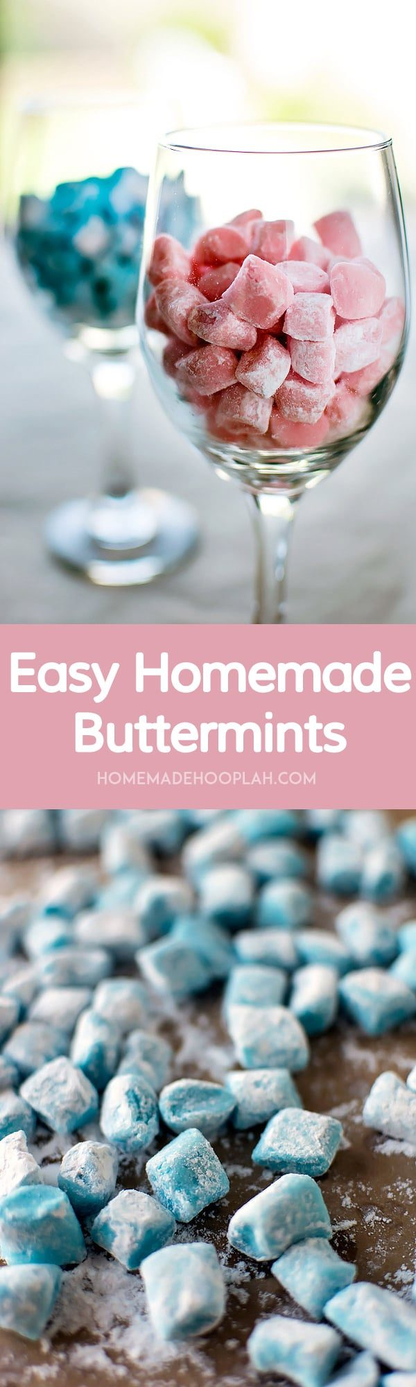 Easy Homemade Buttermints! Melt-in-your-mouth buttermints that are surprisingly easy to make at home.   HomemadeHooplah.com