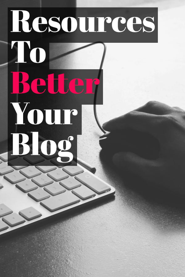 Resources To Better Your Blog! A list of blogger resources covering photography tips, photo editing, social media, powerful plugins, and generating an income.   HomemadeHooplah.com