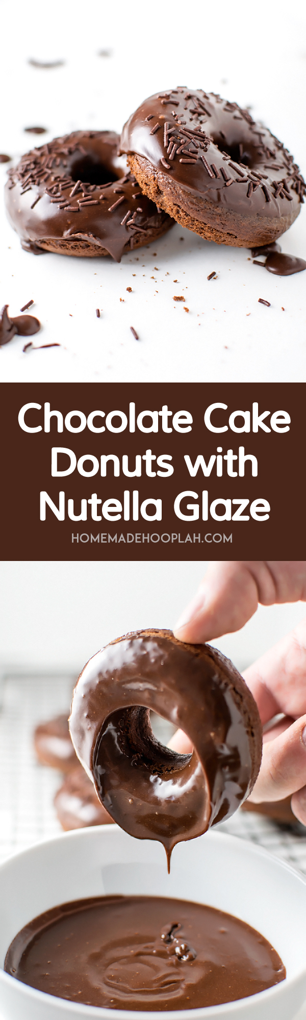 Quick Nutella Icing Recipe Chocolate Cake Donuts With Nutella Glaze Homemade Hooplah