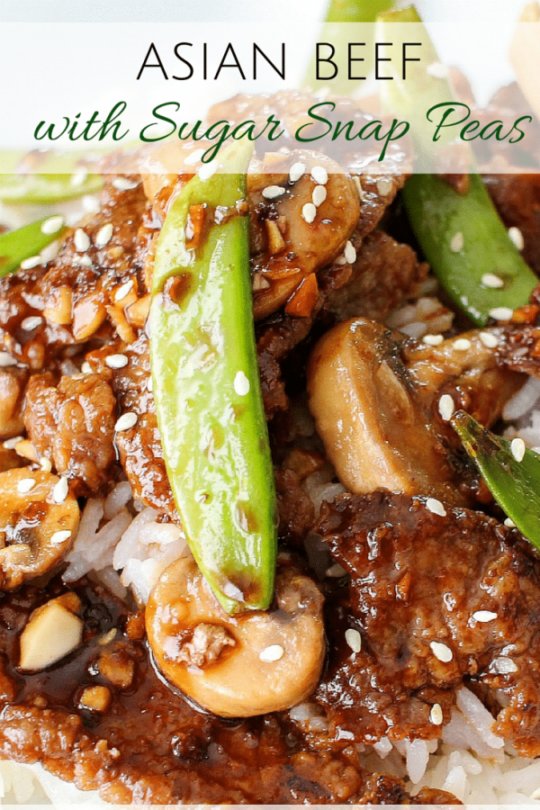 Asian Beef with Sugar Snap Peas from The Chunky Chef