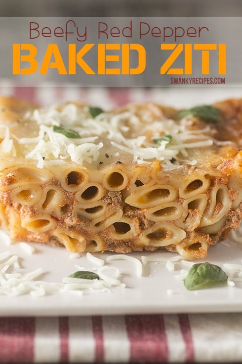 Recipe photos for Beefy Red Pepper Baked Ziti
