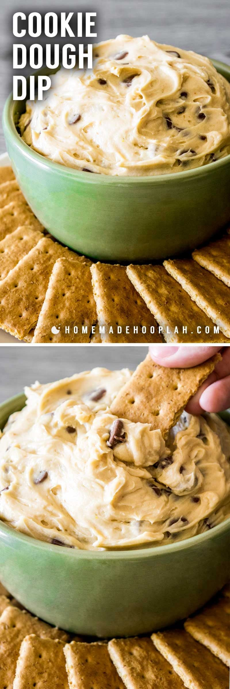 Chocolate chip cookie dough dip recipe.