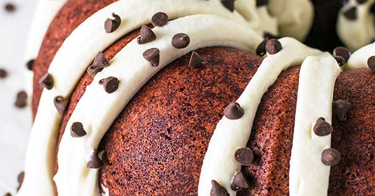 Red Velvet Bundt Cake With Chocolate Chips Recipe