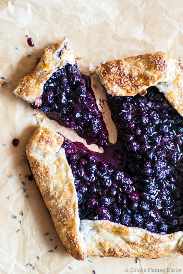 10 Must-Try Galette Recipes, From Sweet to Savory - Blueberry Lavender Galette from A Cookie Named Desire