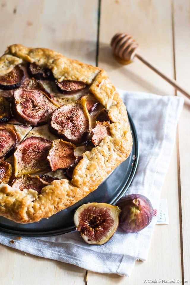 10 Must-Try Galette Recipes, From Sweet to Savory - Fig and Honey Cheesecake Galette from A Cookie Named Desire