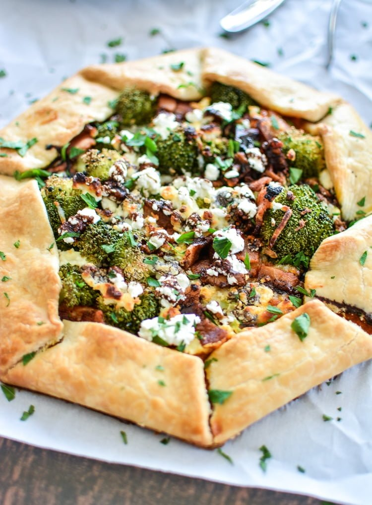 10 Must-Try Galette Recipes, From Sweet to Savory - Spicy Sweet Potato Galette with Broccoli and Balsamic Reduction from Cooking and Beer