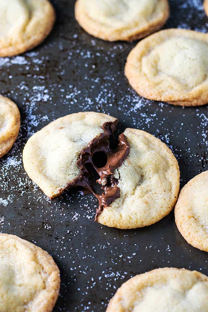 Nutella Stuffed Sugar Cookies - Homemade Hooplah