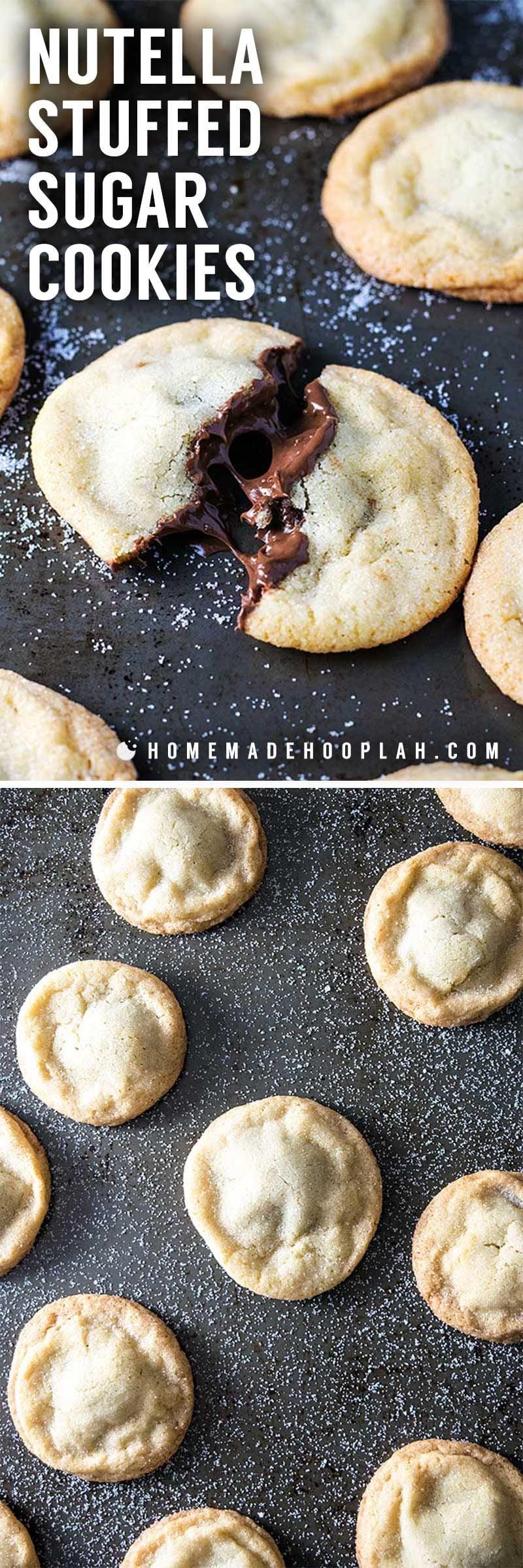 Easy Nutella stuffed cookie recipe.