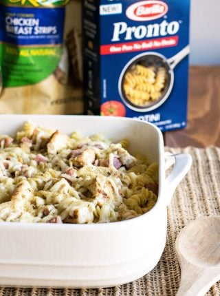 10 Minute Chicken Cordon Bleu Pasta
