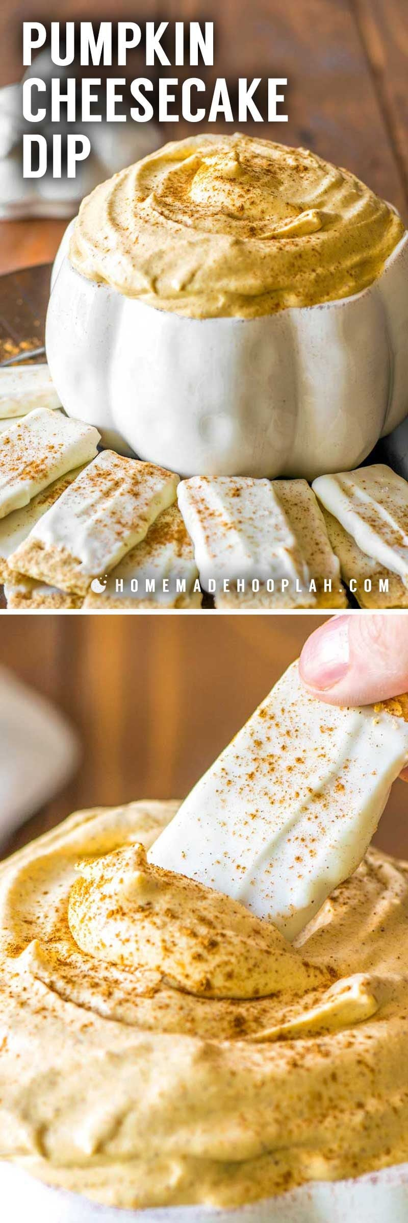 Easy pumpkin dip with cream cheese.