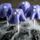 Monster Cake Pops! Cute and creepy monster cake pops that you can make *completely* from scratch (or substitute any of the main components for store bought - your choice!) | HomemadeHooplah.com