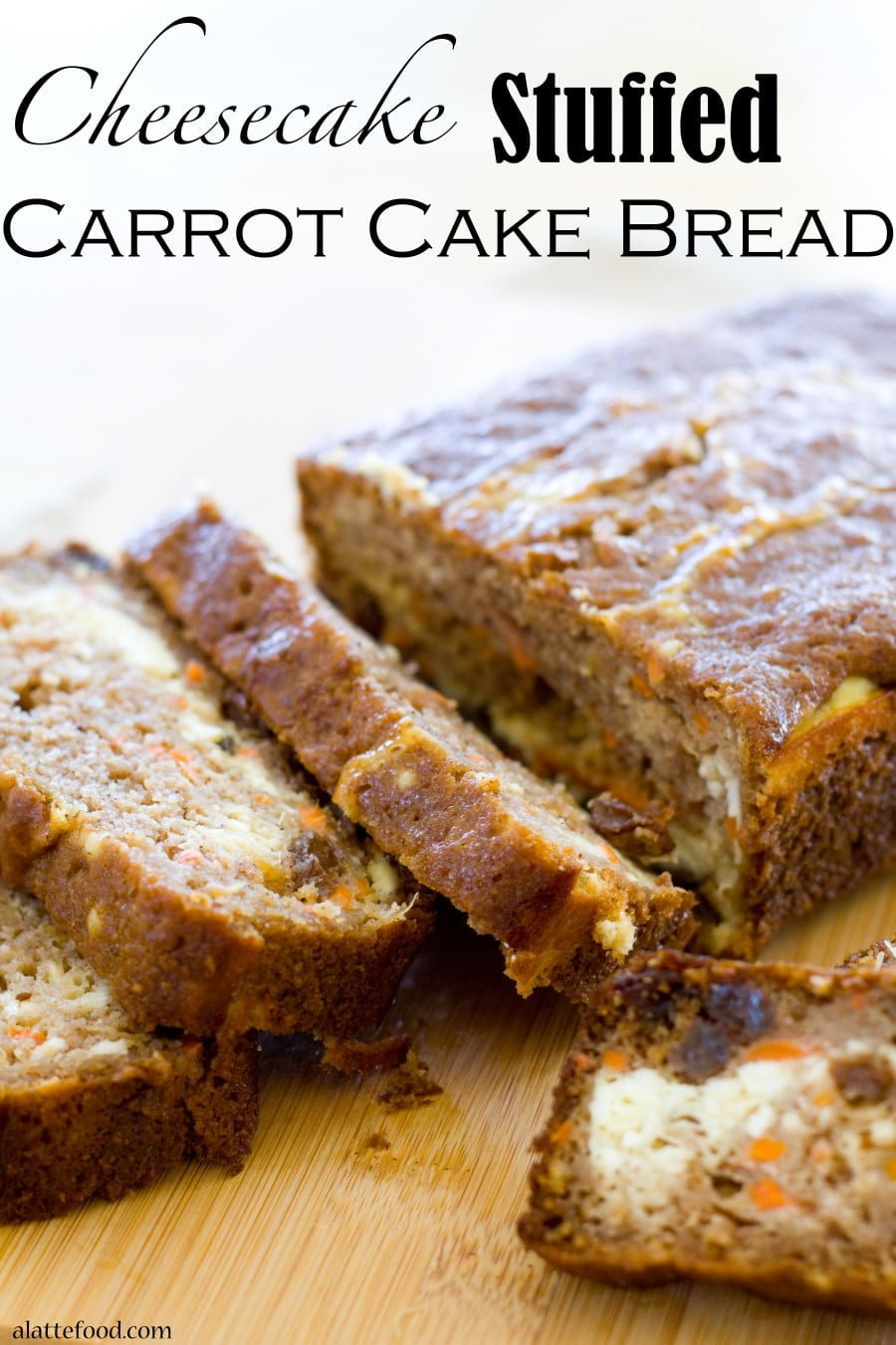 Cheesecake Stuffed Carrot Cake Bread from A Latte Food | 20 Sweet and Decadent Breads! Whether it's for breakfast, lunch, or dinner, these sweet and decadent dessert breads are just what you need! | HomemadeHooplah.com