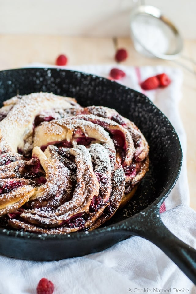 Nutella and Raspberry Swirl Bread from A Cookie Named Desire | 20 Sweet and Decadent Breads! Whether it's for breakfast, lunch, or dinner, these sweet and decadent dessert breads are just what you need! | HomemadeHooplah.com