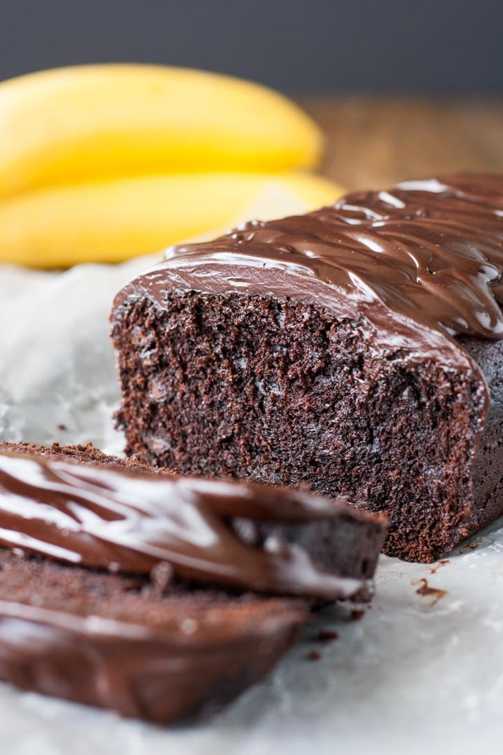 Triple Chocolate Banana Bread from Liv for Cake | 20 Sweet and Decadent Breads! Whether it's for breakfast, lunch, or dinner, these sweet and decadent dessert breads are just what you need! | HomemadeHooplah.com
