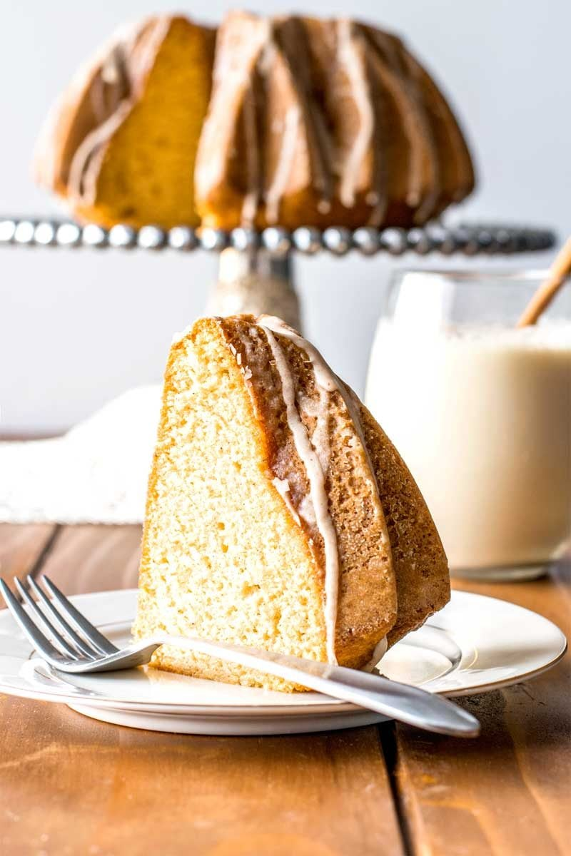 Eggnog Pound Cake With Rum Glaze