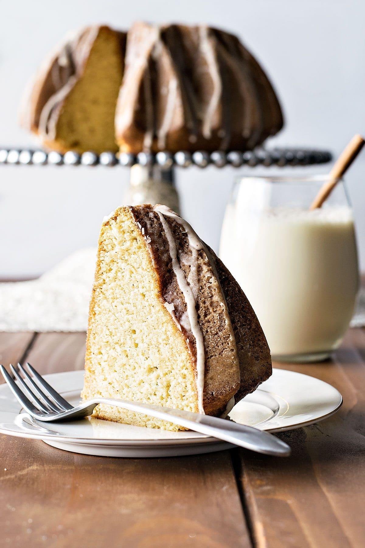 Eggnog Bundt Cake Recipe From Scratch