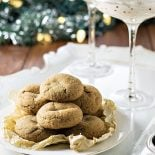 Skinny Ginger Cookies and Eggnog Dip! Need a festive treat to enjoy this holiday season without all the guilt? The ginger cookies are soft 'n chewy and the eggnog dip is creamy 'n sweet – all with fewer calories! #ZingBakingHoliday #ad   HomemadeHooplah.com