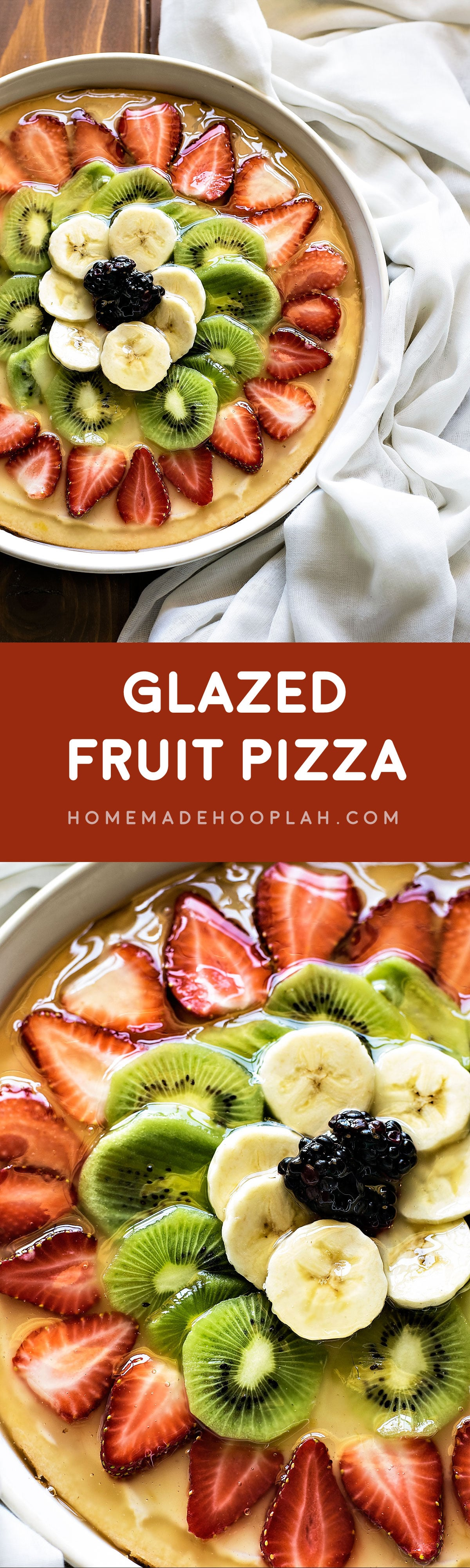 Glazed Fruit Pizza! Make fruit pizza your way with a sweet cream cheese