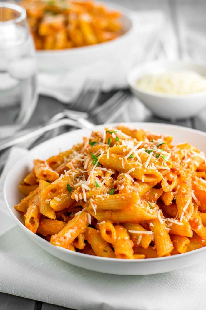 Penne Alla Vodka! Skip the restaurant and make the best penne alla vodka with a key ingredient that makes all the difference. Perfect for fans of authentic Italian cuisine! | HomemadeHooplah.com