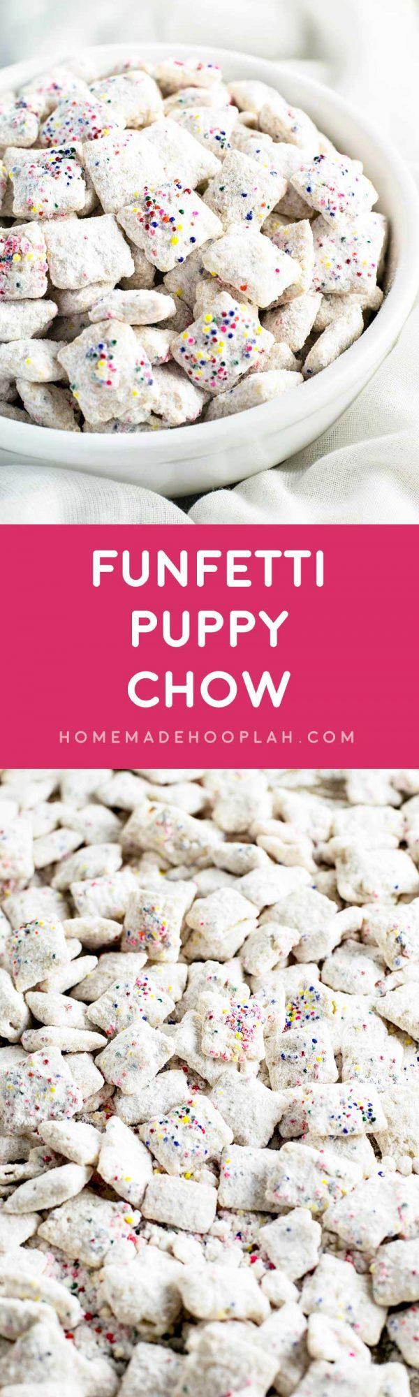 Funfetti Cake Mix Puppy Chow Recipe