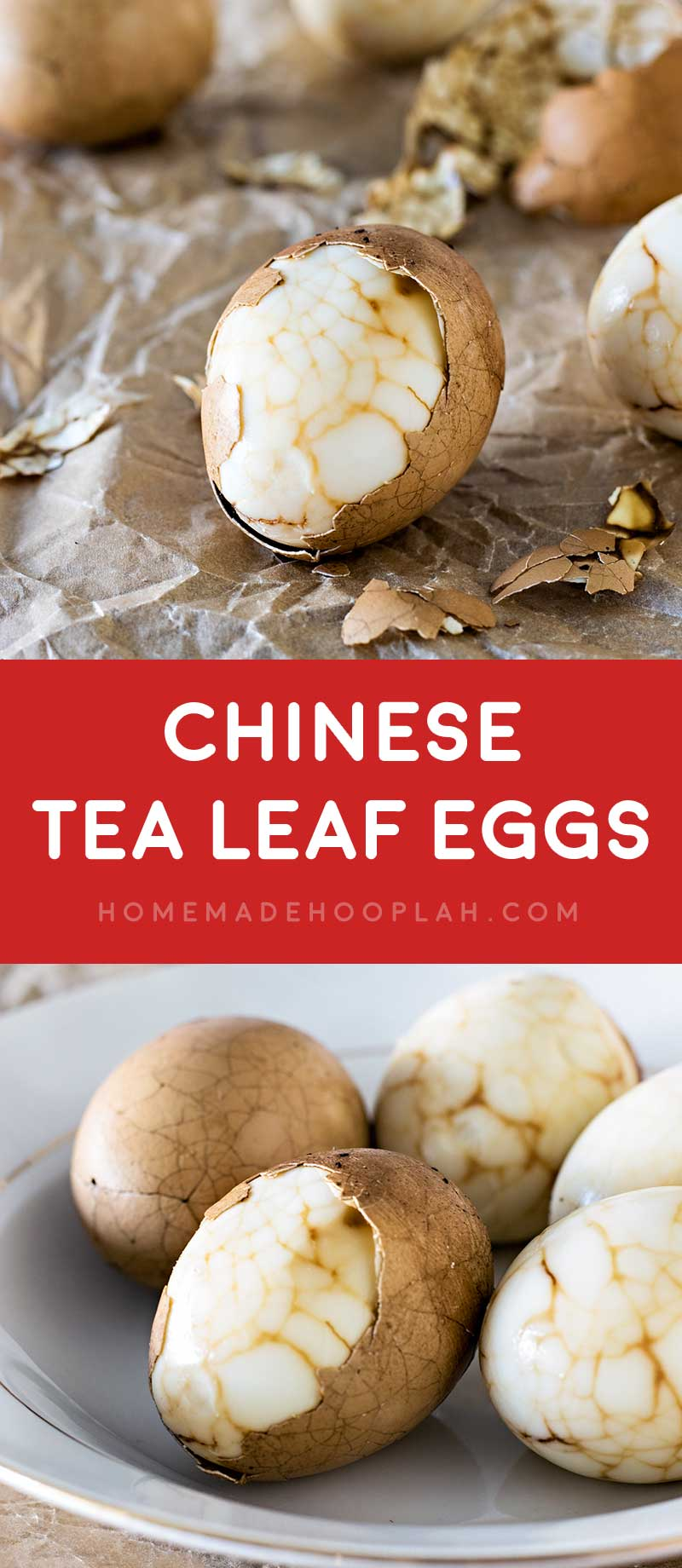 Chinese Tea Leaf Eggs! Celebrate Chinese New Year with traditional Chinese tea leaf eggs, spiked with a touch of orange for good fortune for the next year! #KikkomanCNY #spon @kikkomanusa | HomemadeHooplah.com