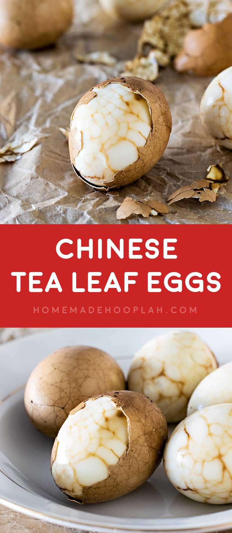 Chinese Tea Leaf Eggs! Celebrate Chinese New Year with traditional Chinese tea leaf eggs, spiked with a touch of orange for good fortune for the next year! #KikkomanCNY #spon @kikkomanusa | HomemadeHooplah.com