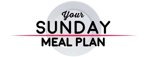 Weekly Meal Plan - Sunday