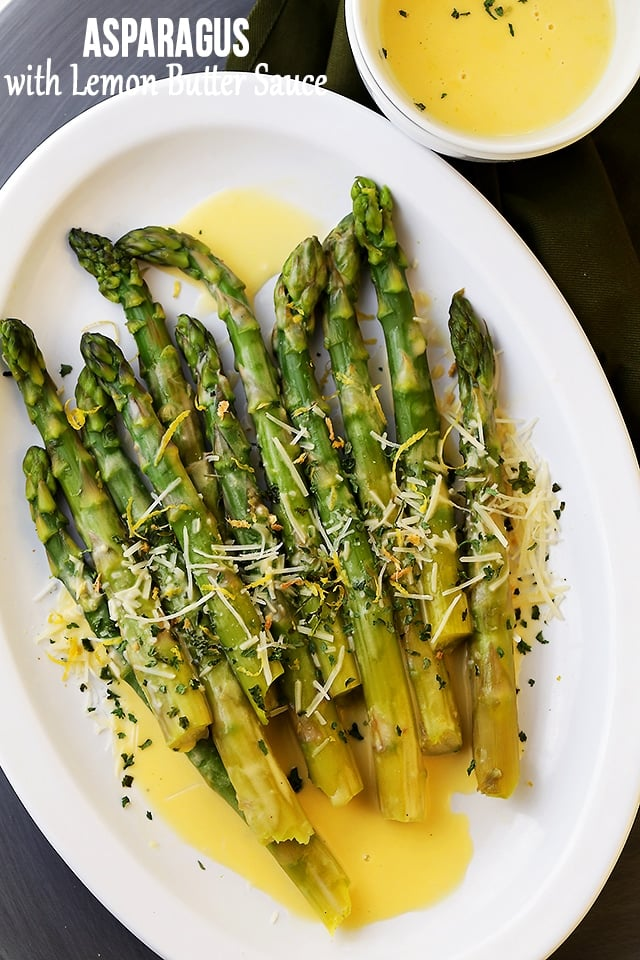 Asparagus with Lemon Butter Sauce