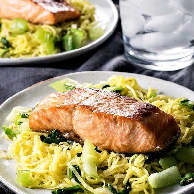 Teriyaki Salmon with Soba Stir Fry