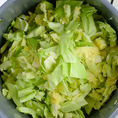 Weight Loss Wonder Soup Step 2 - Add cabbage.