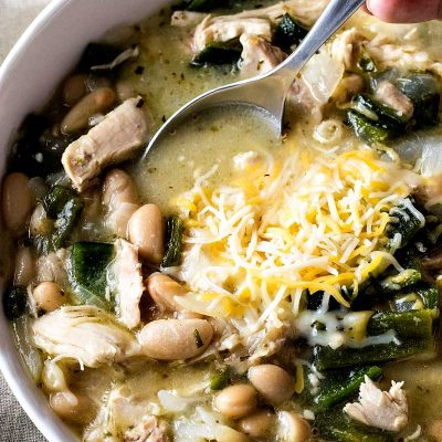 White Chicken Poblano Chili