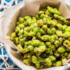 Crispy Parmesan Garlic Edamame