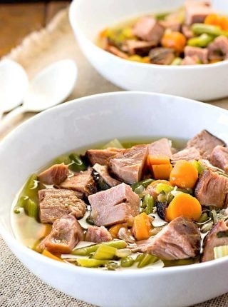 Crock Pot Ham and Vegetable Soup