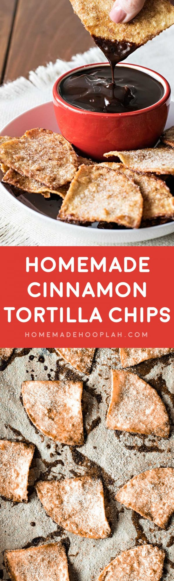 Homemade Cinnamon Tortilla Chips! These baked cinnamon tortilla chips ...
