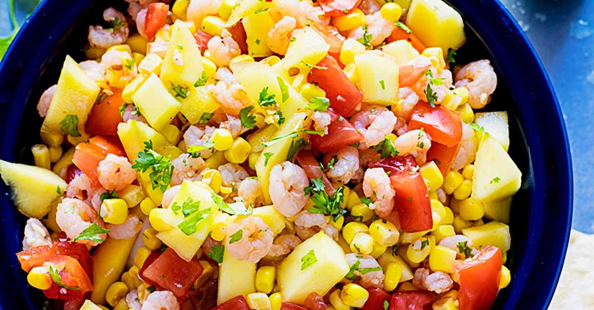 Mango Shrimp Salsa - Homemade Hooplah