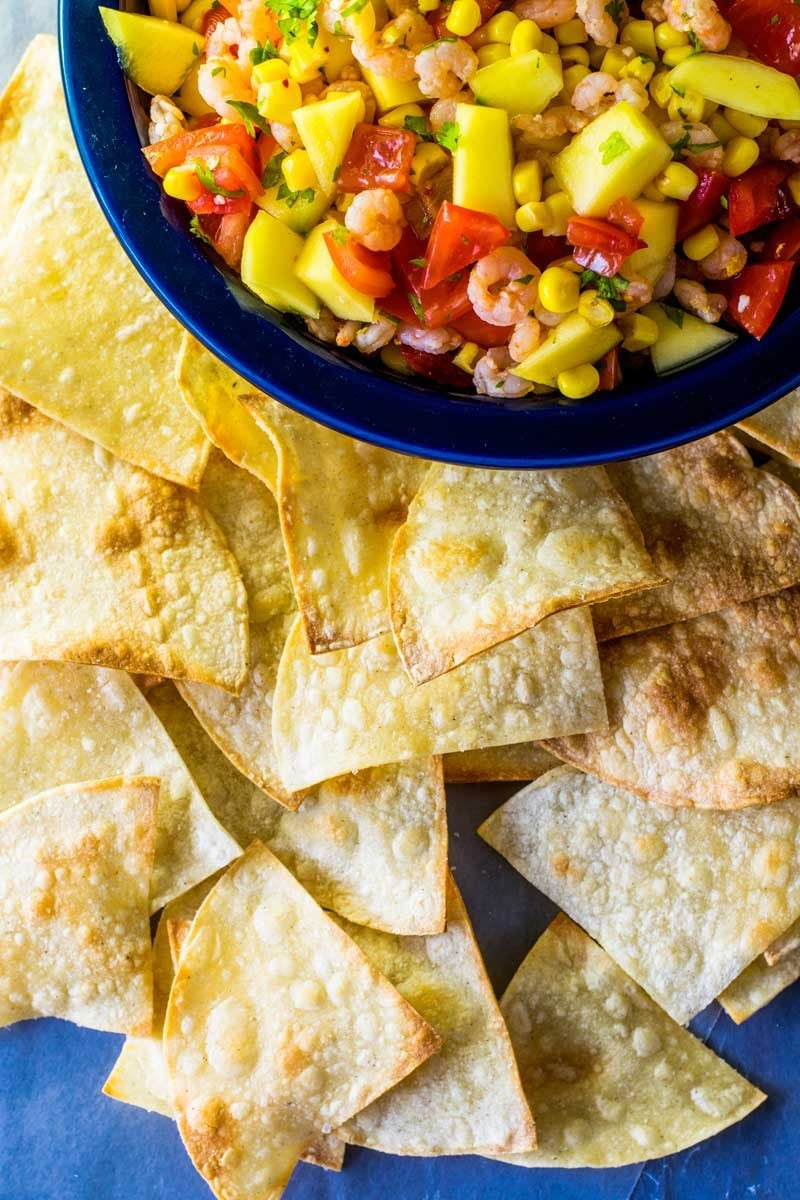 How to make your own tortilla chips.