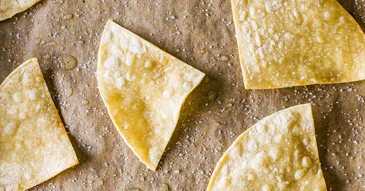 oven baked tortilla chips - homemade hooplah