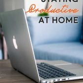 5 Tips for Staying Productive at Home! Not feeling productive in the comfort of your own home? These five simple tips may help you get your to-do list back on track. | HomemadeHooplah.com #ad