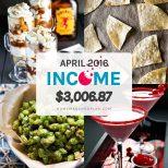 April Income: $3,006.87