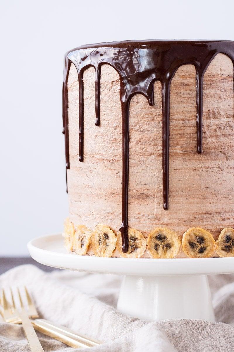 Nutella Banana Cake with Hazelnut Meringue